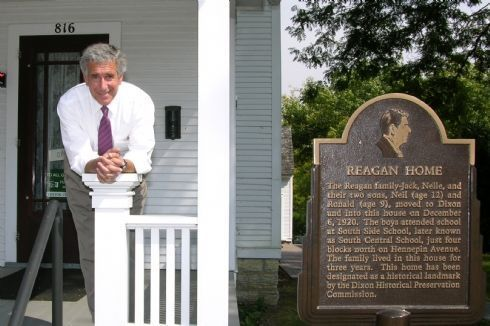 Chris at the Reagan Home in Dixon, Illinois - one of the many treasures of the 14th Congressional District